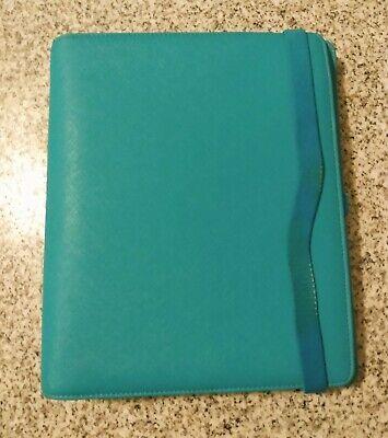Kikki K Planner Binder Large Teal Turquoise Aqua Blue Pages Tabbed Dividers
