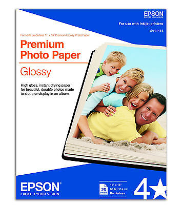Epson Pro 11x14 Premium Glossy Photo Paper S041466 3880 3...