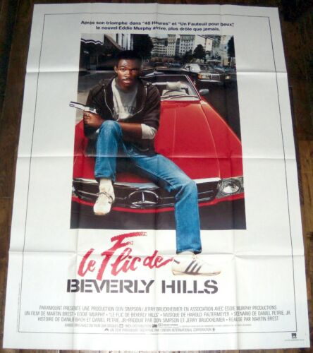 BEVERLY HiLLS COP Eddie Murphy 1980s Judge Reinhold LARGE french POSTER