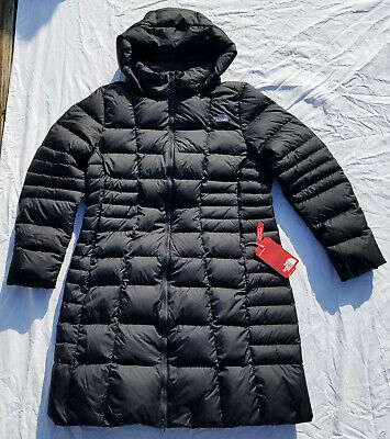 North Face Metropolis Parka II Down Jacket Coat Women's TNF Black Size XL NWT