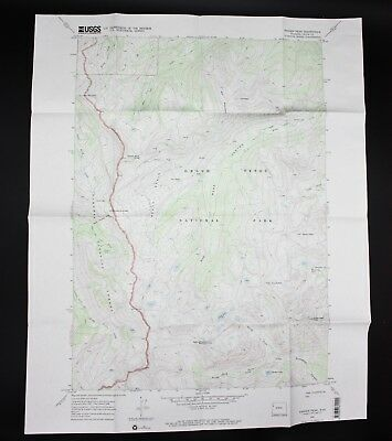 VTG 1968 Ranger Peak Wyoming USGS Topographical Map TOPO WY 7.5 Minute
