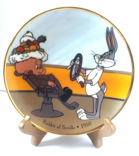 """WARNER BROTHERS 1992 """"RABBIT of SEVILLE 1950"""" Porcelain COLLECTOR PLATE 6.5"""""""