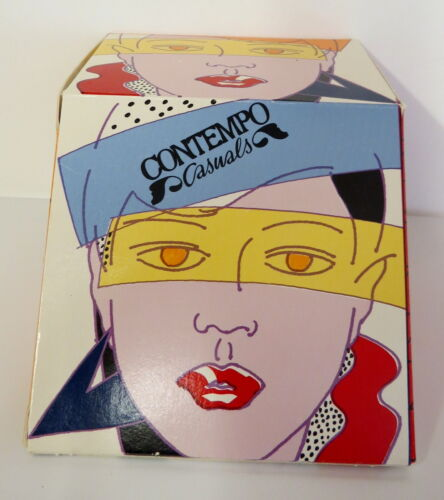 "VINTAGE ORIGINAL ""CONTEMPO CASUALS"" GIFT BOX DEPT. STORE 1990"
