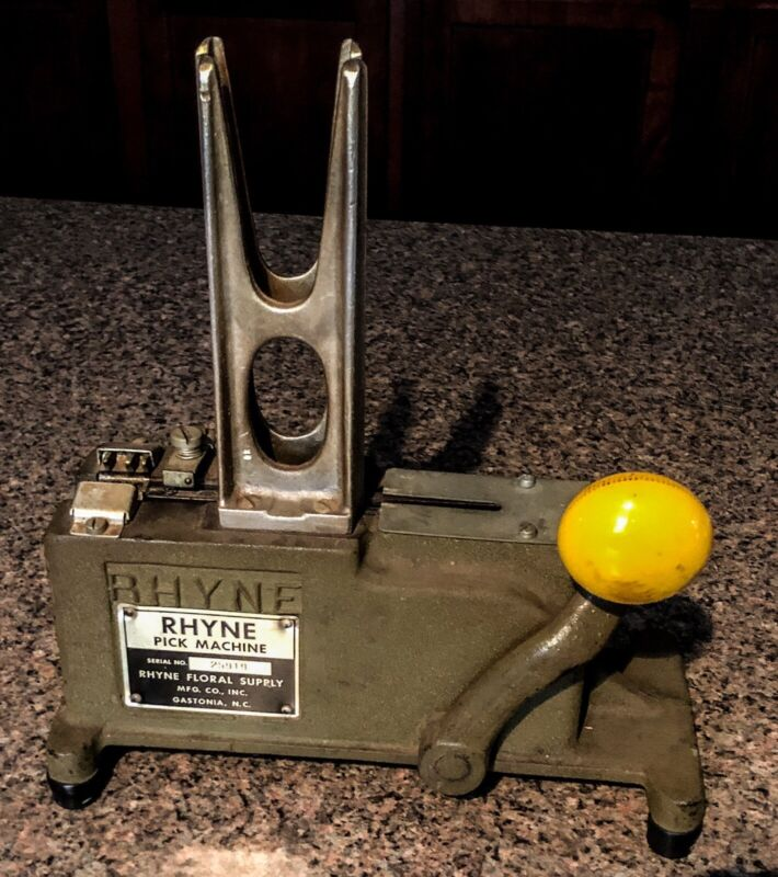 Vintage RHYNE Pick Machine Flower Stem Pick Machine Stemming