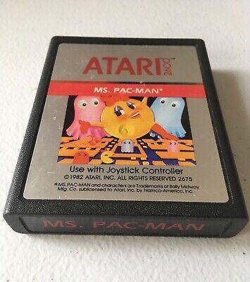 Ms. Pac-Man - Atari 2600 Game. Free Shipping