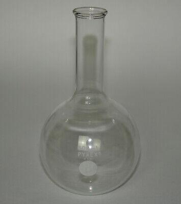 Vtg Pyrex Glass 500ml Florence Flask 3 Long Neck Flat Bottom Boiling