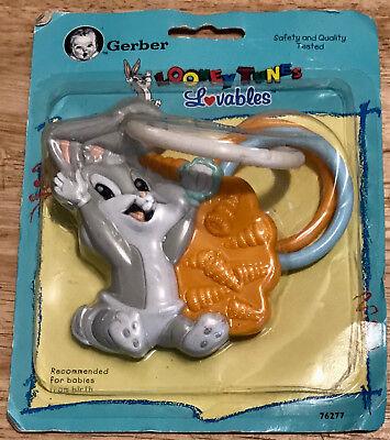 GERBER Looney Tunes Lovables Hard and Soft Teething Ring Baby Bugs Bunny (Bugs Bunny Teeth)