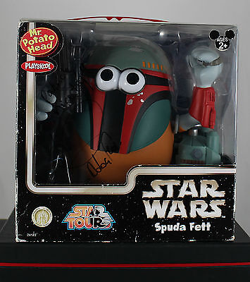 Disney Star Wars Spuda Fett Mr Potato Head handsigniert Daniel Logan / Boba Fett