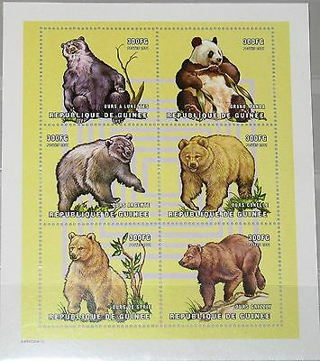 GUINEA 2001 KLB 3022 27 1894 BEARS B REN BEAR TIERE ANIMALS FAUNA NATURE MNH