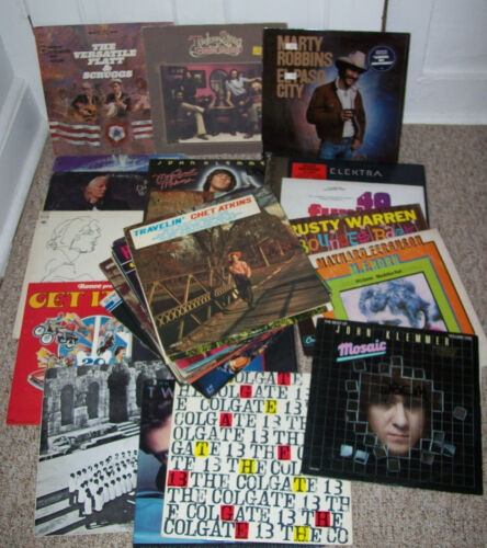 lot of 40+ vintage LP Reord Albums: 70s Blue Grass Folk Country Oldies Pop+