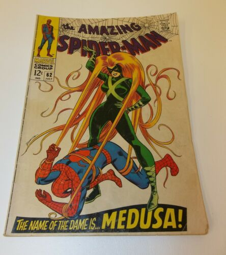 The Amazing Spider Man 62 July 1968 Comic Book - Medusa