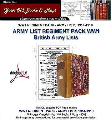 CAVALRY REGIMENTS WW1 BRITISH ARMY LISTS CDROM British Army Cavalry Regiments