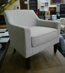 New Verona Natural Fabric Classic Armchair Lounge Chair Timber Melbourne CBD Melbourne City Preview