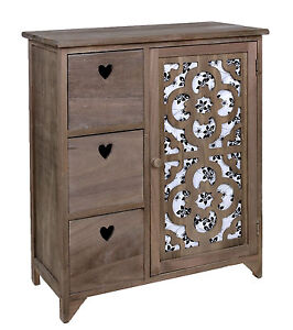 ts ideen landhaus kommode flur bad schrank shabby vintage grau braun dekoration ebay. Black Bedroom Furniture Sets. Home Design Ideas