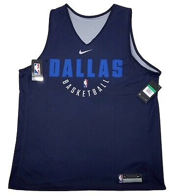 Authentic NIKE Dallas Mavericks Basketball Reversible Practice Jersey 3XLT 4XLT