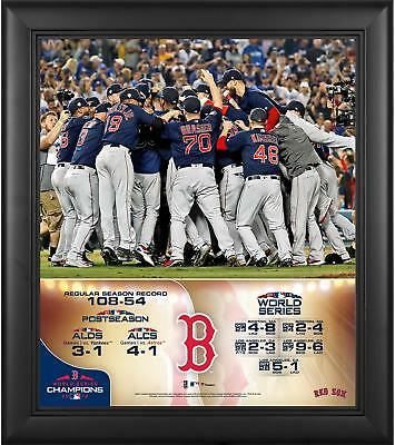 Boston Red Sox 2018 World Series Champs Framed 15