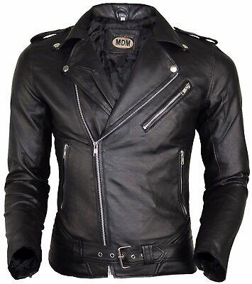 Herren Design Leder (Herren Kunstleder Jacke Bikerjacke Clubjacke Motorrad Stil  Designer Jacke)