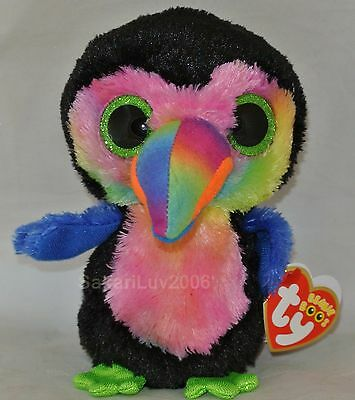 "New! 2017 Ty Beanie Boos BEAKS the Toucan 6"" size NWT's - In Hand!"