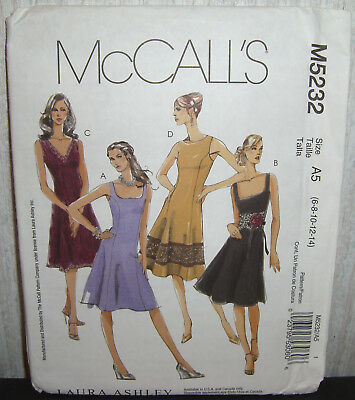 Womens/Misses & Petite Lined Dresses Sewing Pattern /McCall's 5232/SZ 6-14/UCN
