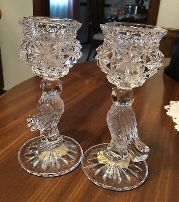 Probably 1960s VINTAGE ROSENTHAL Germany Age old candlestick  candle holder made of crystal glass  lead crystal
