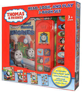 Thomas And Friends Tank Read, Look And Play Book + Stickers Boxed