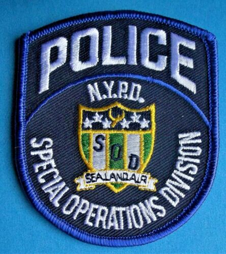 GEMSCO NOS NYPD Vintage Patch POLICE SPECIAL OPS DIVISION NYC - NY Original 30+