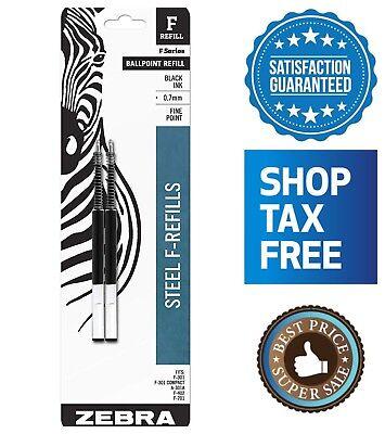 Zebra F-series Ballpoint Pen Refill 2-pack Fine Point Black Ink 0.7mm