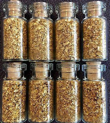 Crafts Online (10 Large Bottles of Gold Leaf Flakes ..... Lowest price online)