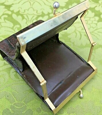 FRENCH 1950s WOMEN CIGARETTE CASE~LUXURIOUS ALLIGATOR & GOLD METAL~CHIC VINTAGE