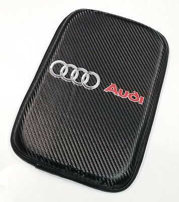 1PCS For JDM AUDI Carbon Car Center Console Armrest Cushion Mat Pad Cover