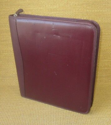 Monarch 1.25 Rings Burgundy Leather Sim. Franklin Covey Zip Plannerbinder