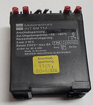 Kriwan Int69 Tm Motor Protector Used Cut Out