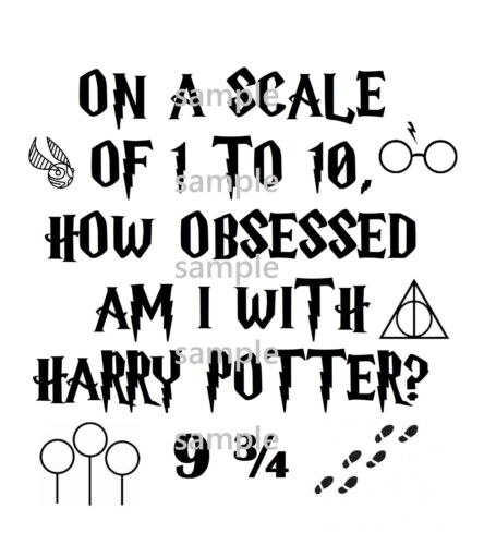 %27OBSESSED+WITH+POTTER...%27+%28Harry+Potter%29+iron+on+t+shirt+transfer+-+FREE+POSTAGE