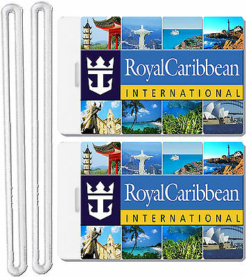 2x Royal Caribbean Cruise Line Luggage Baggage Suitcase Travel Trip Name ID Tags