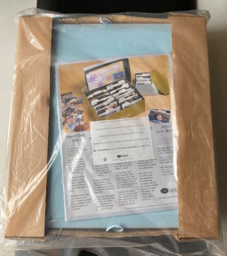 CREATIVE MEMORIES LARGE POWER SORT BOX - HOLDS 2400 PHOTOS - NEW and SEALED Blue