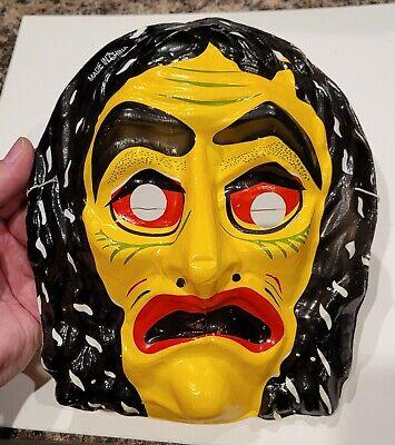 Witch plastic Halloween Mask Ben Cooper Collegeville Halco Fun World costumes