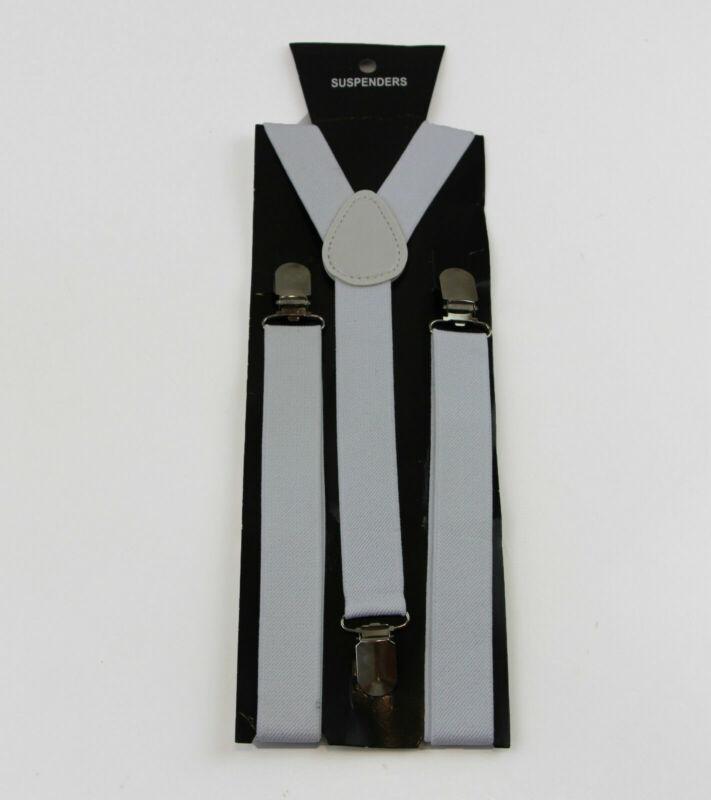 White Suspenders Womens Mens Men
