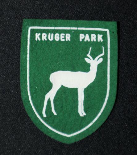 Kruger National Park vintage 1950s/60s Felt Patch Green w/ Springbok