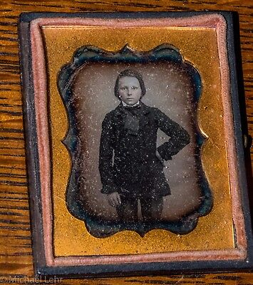 9th Plate Daguerreotype a Boy with Great Attitude