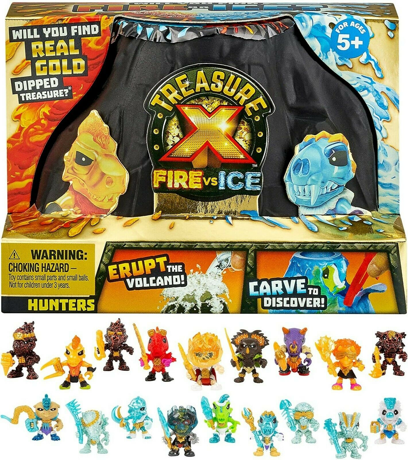 Treasure X Fire vs Ice Hunter Pack - New Version Factory Sealed Pack Unopened  For Sale - 2