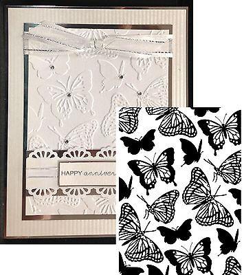 Butterflies Embossing Folder Darice Cuttlebug Compatible Folders 1219-104 Animal Cuttlebug Embossing Folder