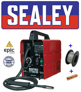 SEALEY-100Amp-No-Gas-Gasless-Mighty-Mig-Welder-Flux-Wire-Tip-MIGHTYMIG100