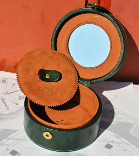 RARE box jewelry holder travel with mirror original ROLEX