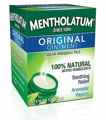 Mentholatum Original Topical Analgesic Ointment Aromatic Vapor Rub Pain Relief
