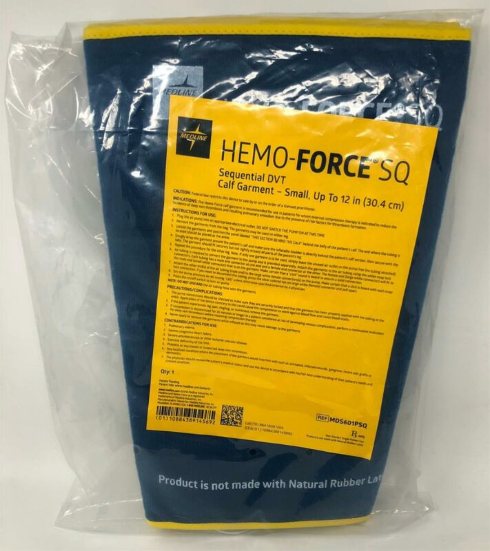 Medline Hemo-Force SQ Sequential DVT Calf Garment Pair - Small - MDS601PSQ - NEW