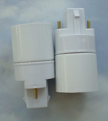 TWO (2) Adapters (Converters) to use regular CFL bulbs in an Aerogarden