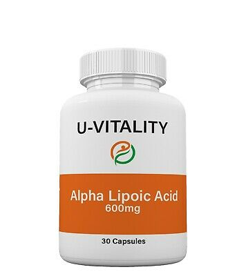 Alpha Lipoic Acid 600mg Free Shipping Supports sugar metabolism Made in USA (Sugar Metabolizer)