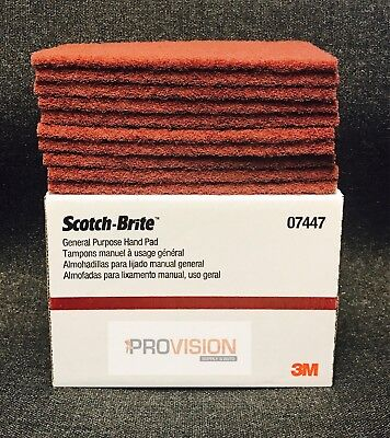 3M 7447/07447 Scotch Brite General Purpose Hand Sand Scuffing Maroon (10 pads)