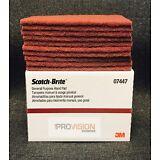 3M 7447/07447 Scotch Brite General Purpose Hand Sand Scuffing Maroon (10 pads)