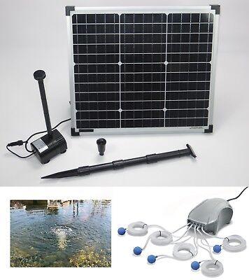 30W Solar Sauerstoff + Teich Pumpe Belüfter Gartenteich Tauch Belüftung Garten *